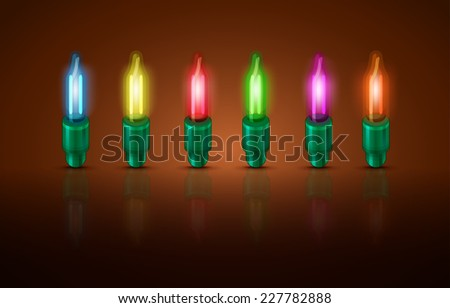 Christmas lights. Bright colored lights. Vector