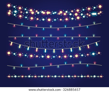 christmas lights festive
