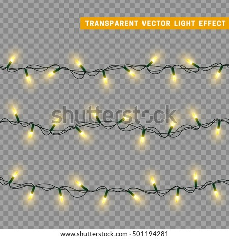 christmas lights isolated