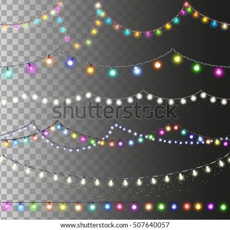 christmas lights set  colored