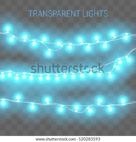 christmas lights transparent