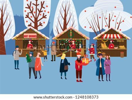 christmas market or holiday