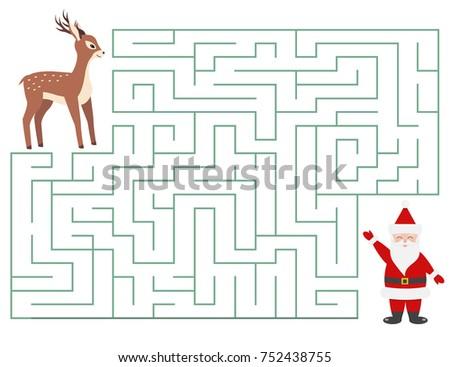 christmas maze game for kids