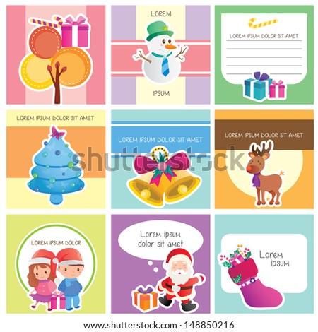 Christmas memo layout