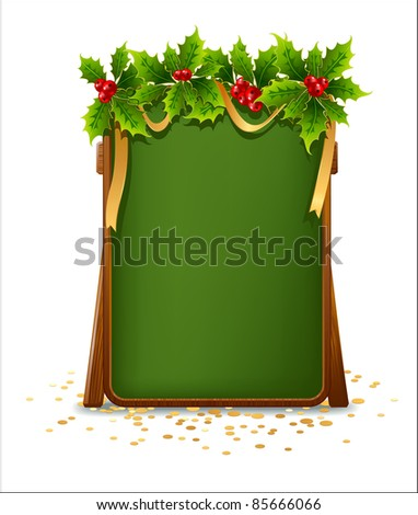 Christmas menu bulletin board