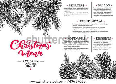 christmas menu.  restaurant and ...