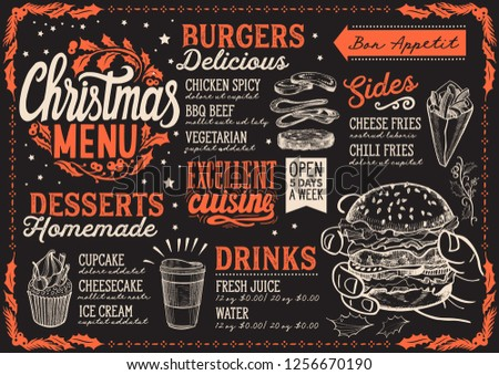 stock-vector-christmas-menu-template-for-burger-restaurant-and-cafe-on-a-blackboard-background-vector