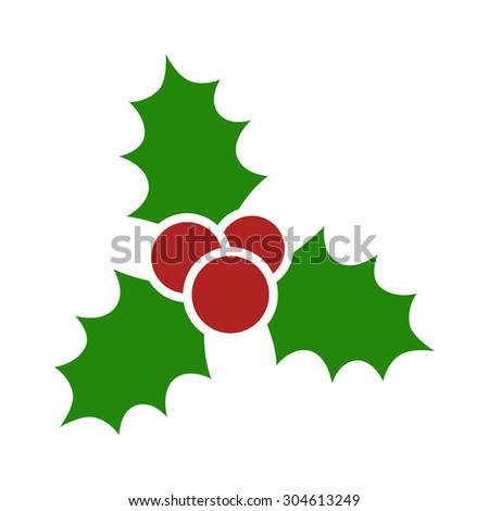 christmas mistletoe flat icon