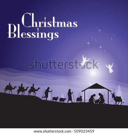 Christmas nativity scene #509023459