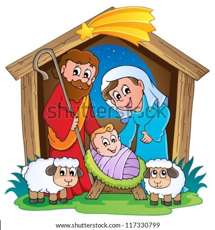 Christmas Nativity scene 2 - vector illustration.
