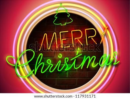 Christmas Neon Sign.