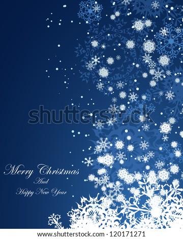 Christmas (New Year)  background. EPS 8 Vector illustration.