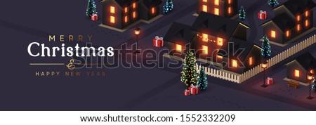 christmas night city the