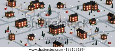 christmas night city winter