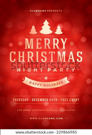 christmas night party poster or
