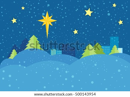 christmas night vector concept