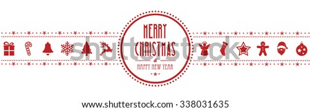 christmas ornament banner red