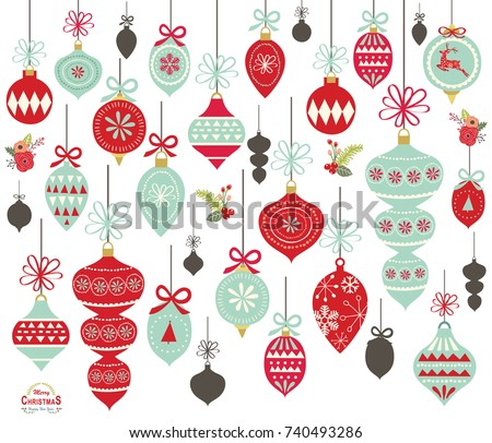 Christmas Ornament Vectors - Download Free Vector Art, Stock ...