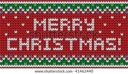 Christmas ornament for knitting