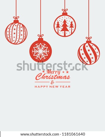 christmas ornament hanging red
