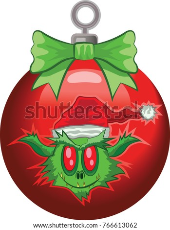 christmas ornament with ogre