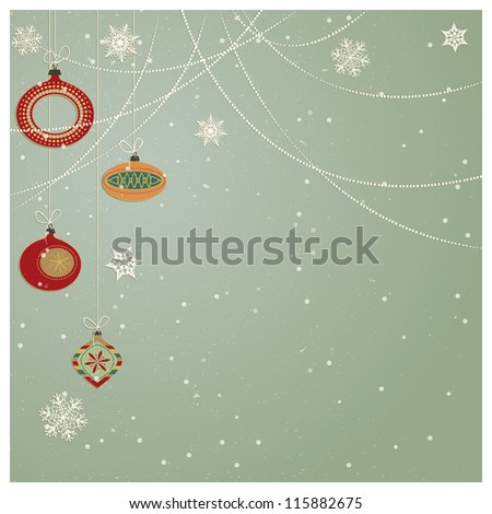 Christmas Ornaments /Stylish retro Christmas ornaments