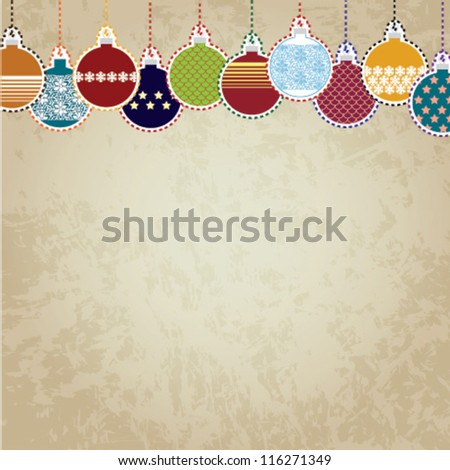 Christmas Ornaments - vector background/illustration