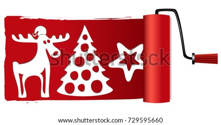 Christmas paint roller