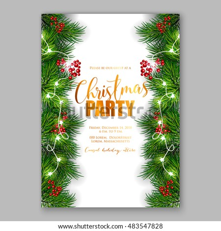 christmas party invitation with