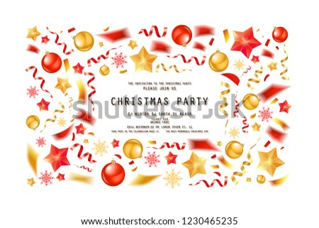 christmas restaurant and party menu invitation templates download