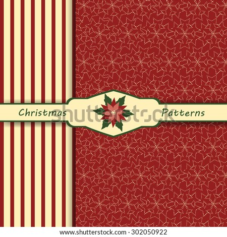 christmas patterns set of