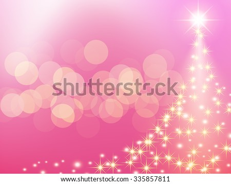 christmas pink background with