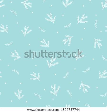 christmas plant pattern winter