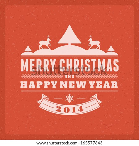 Christmas postcard ornament decoration background Vector illustration Eps 10 Happy new year message Happy holidays wish
