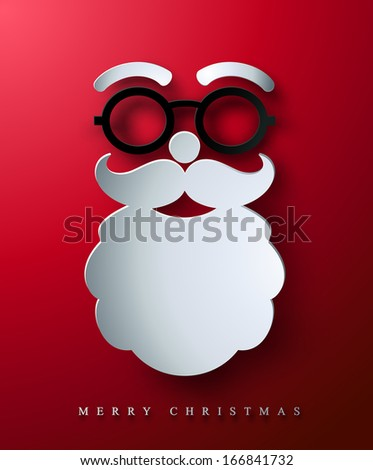 christmas postcard stylized