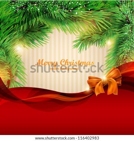 Christmas poster. - stock vector