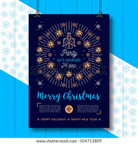 christmas poster  holiday xmas