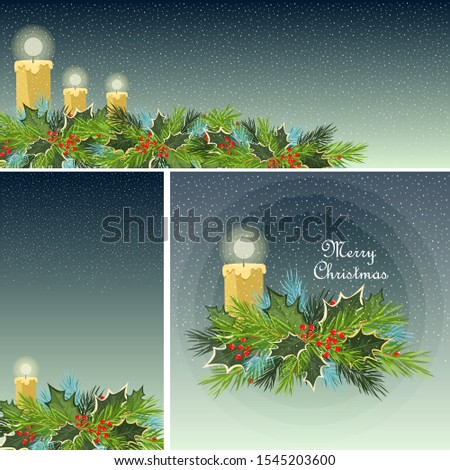 christmas poster set of