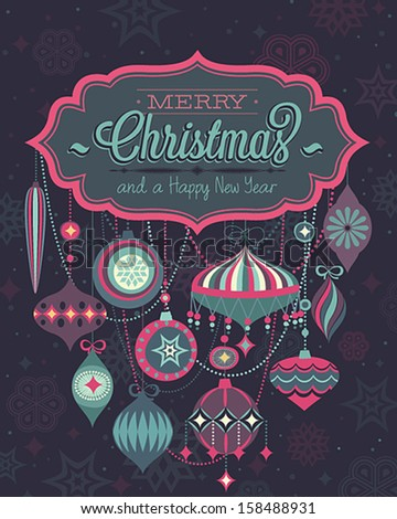 Christmas Poster Vector illustration