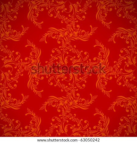 christmas red background, floral seamless texture