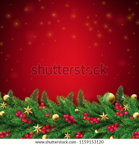 christmas red background with