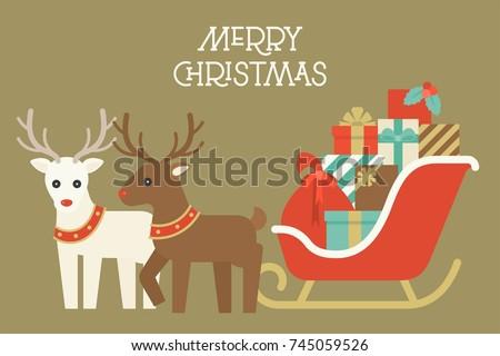 christmas reindeer with collar