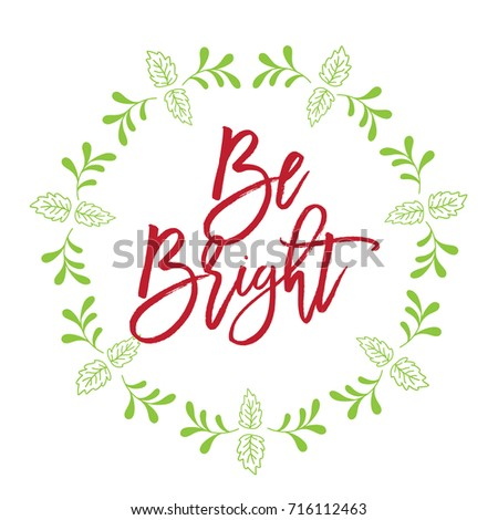 Christmas related word art script text design vector with circle ...
