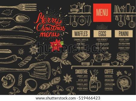 christmas restaurant brochure