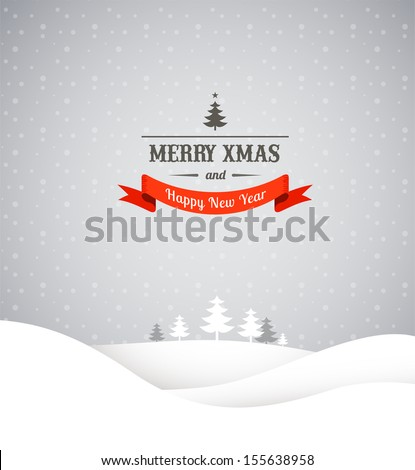 christmas retro greeting card