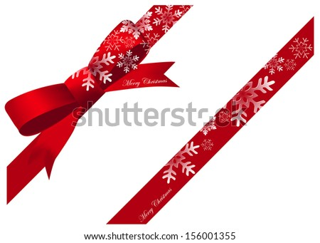 christmas ribbon snow