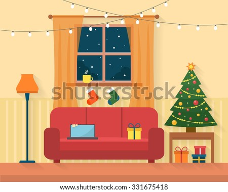 christmas room interior