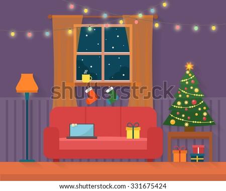 christmas room interior