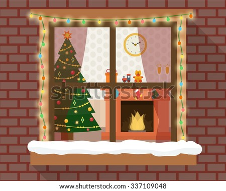 christmas room with furniture