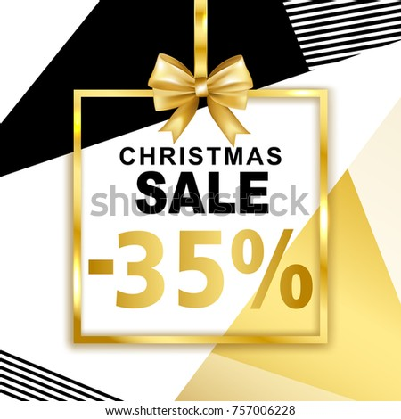 christmas sale  35  banner with